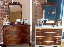 Makeover Furniture View In Gallery Dresser Makeover With White Border Furniture E