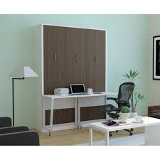 aliance murphy bed with desk anthracite