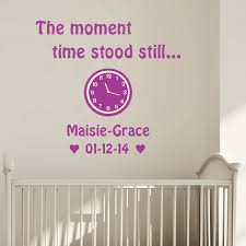on personalised baby wall art uk with the moment time stood still personalised wall art