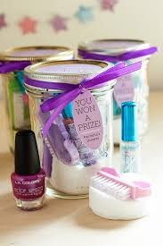 Mason Jar Decorations For Bridal Shower Pedicure in a Jar Gift Favor Ideas from Evermine 49