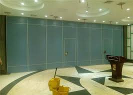 movable sliding interior door sound proof folding wall in commercial offices