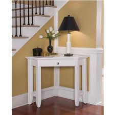home styles naples laptop desk corner foyer table white finish