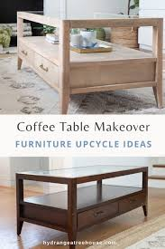 coffee table makeover how to refinish
