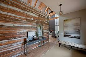 accent wall designs living room. stylish accent wall in salvaged wood. image credit: decoist. ideas living room designs v