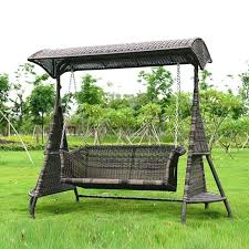 garden swing 2 person wicker garden swing chair outdoor hammock patio leisure cover seat bench with