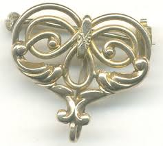 simmons jewelry. ps790 simmons art nouveau watch pin...$42.00 jewelry