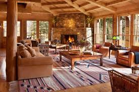 a very massive cottage for tom cruise for his mountain holiday in colorado 7 bedrooms and 9 bathrooms the lovely pink kilim in the living room makes the