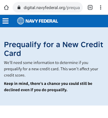 A good to excellent credit score of 670 or higher can provide better odds of approval, not to mention lower aprs and. Are The Navy Federal Prequalify Recommendations Ac Myfico Forums 5998709