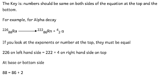 7 7 understand how to complete balanced nuclear equations