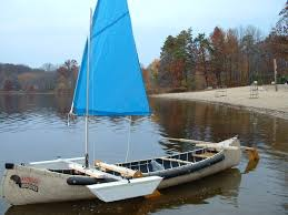 just finish making my canoe a sail boat thanks for the great plans sarah s august 2010