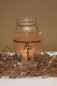 Decorating With Mason Jars And Burlap Mason Jar Vase with Key Detail Customized Painted Centerpiece 16