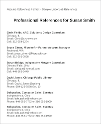 Resume Professional References Reference Sheet Resume Professional ...