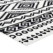 black and white tribal rug geometric area