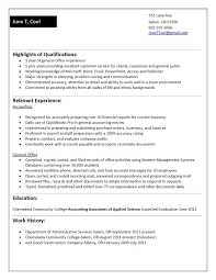 Sample Resume No Work Experience College Student Job Experience