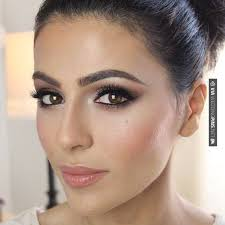 wedding makeup for brides with brown hair touching wedding makeup for brown eyes having black hair