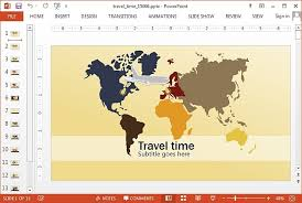 Animated Travel Map Animated Travel Powerpoint Template