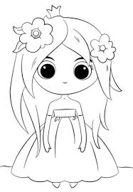 Disegno Di Principessa Chibi Carina Da Colorare Disegni Da