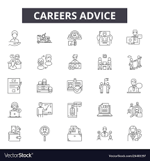 Web Design Career Advice Career Advice Line Icons For Web And Mobile Design
