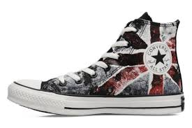 converse uk. chuck taylor all star destroyed uk flag hi w blanc/bleu/rouge converse s