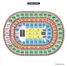 Wwe United Center Seating Chart United Center Chicago Il Seating Chart View