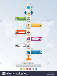 Startup Timeline Template Timeline Startup Infographics With Six Circle And Icons