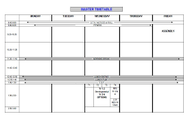 Timetable Template Inspiration Timetable Templates For School In Excel Format Excel Template