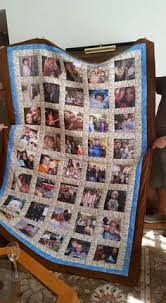 Make a Photo Memory Quilt | Photo quilts, Craft and Crafty & Custom Made Precious Memories Photo Quilt by MessageQuiltsbyTaffy Adamdwight.com