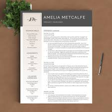 creative resume template the amelia landed design solutions creative resume template the amelia perfect resume templates 2