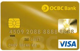 Ocbc Card Malaysia Visa - Gold Credit