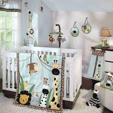 lambs ivy k a boo jungle 5 piece crib bedding set