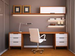Stylish office desk setup Graphic Decoist 24 Minimalist Home Office Design Ideas For Trendy Working Space