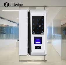 glass door fingerprint front door lock
