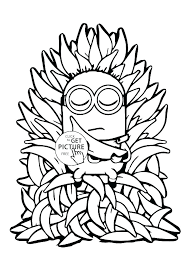 Minion Coloring Pages To Print