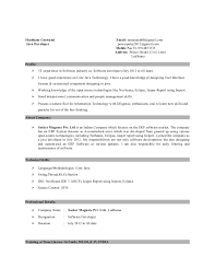 Core Java Developer Resume Sample