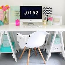 cool office desks. Fine Office From The Super Talented Beaumondemama  We Love How She Has Styled Her  Stationers Trestle Desk In White To Cool Office Desks S