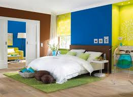 Wonderful Lime Yellow Blue And Brown Colors For Interior Decorating