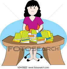 messy desk clipart. Beautiful Messy A Woman Frustrated With Lots Of Papers And Messy Desk Inside Messy Desk Clipart