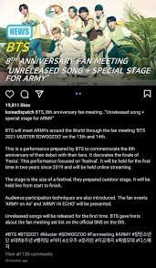 The events will be held both on june 13, 2021 and june 14, 2021 online. Daily Bangtan Butter On Twitter According To Koreadispatch Bts Will Perform An Unreleased Song In Bts 2021 Muster Sowoozoo Https T Co 7zbg7pd7m6 Https T Co Blxb0gzvvb