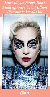 lady a s super bowl makeup gave us a million reasons to freak out