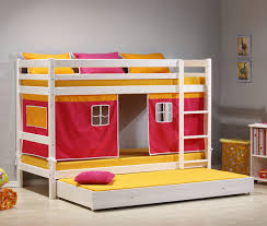 ... Large-size of Masterly Decoration Using Red Tent Wood Trundle Teenage Bunk  Bed Including Light ...