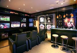 basement sports bar ideas. Breathtaking Basement Bar Decor Wall Sports Ideas For Home Theater Contemporary With Media Theater.jpg S
