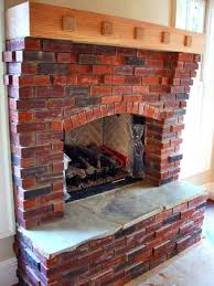 smlf fireplace hearth remodel ideas alluring red brick homey wooden shelf pleasing wall design tile