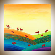 paintings for office walls. autumn hills by qiqigallery 30 paintings for office walls