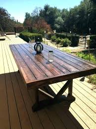 rustic outdoor dining tables rustic outdoor dining table faux wood outdoor dining table large size of