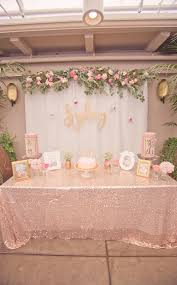 Main Table from a Pink + Gold Bohemian Dohl Birthday Party via Kara's Party  Ideas |