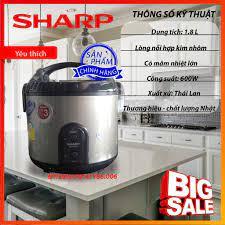 Nồi cơm điện Sharp KS-R19ST 600W 1.8L hàng chính hãng nhập khẩu Thái Lan