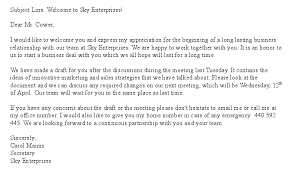 email writing template professional free welcome letter template for new business partner