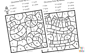 Pin it pin on pinterest. Christmas Color By Number Worksheets Fun With Mama