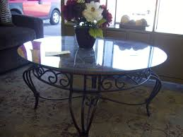 iron rod furniture. Round Glass Top Mixed Antique Black Wrought Iron Coffee Table Rod Furniture