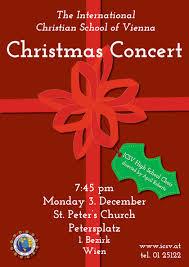 Christmas Concert Poster Icsv High School Christmas Concert Poster 3 Christmas Concert